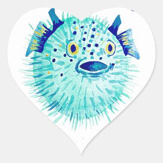 Les Pufferfish de Neptune Sticker Cœur