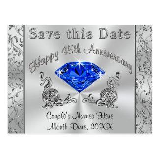Les quarante-cinquième invitations d'anniversaire