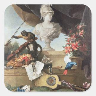 Les quatre continents : L'Europe, 1722 (huile sur Sticker Carré