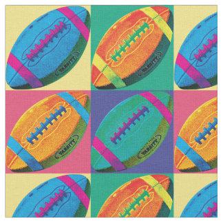 Les quatre football dans différentes couleurs tissu