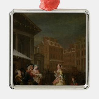 Les quatre heures du jour : Matin, 1736 Ornement Carré Argenté