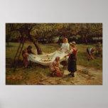 Les ramasseurs d'Apple, 1880 Poster