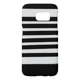 Les rayures blanches noires refroidissent les coque samsung galaxy s7