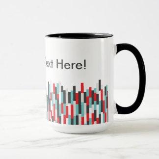 Les rayures colorées de solides solubles mug