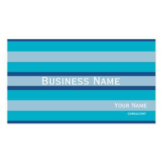 les rayures refroidissent des couleurs bleues carte de visite standard