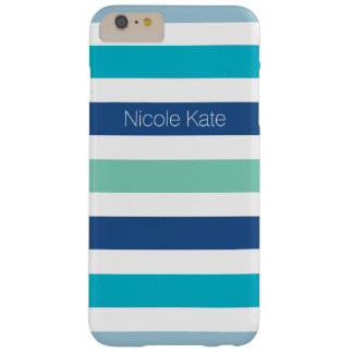 les rayures refroidissent des couleurs bleues coque iPhone 6 plus barely there