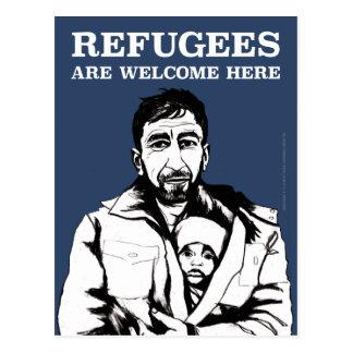 Les réfugiés font bon accueil à la carte postale