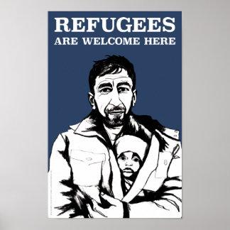 Les réfugiés font bon accueil à l'affiche (poids posters