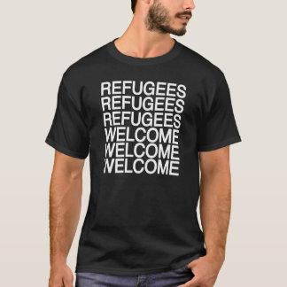 Les réfugiés font bon accueil au T-shirt