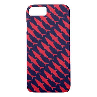 Les requins refroidissent le rouge et le motif coque iPhone 7
