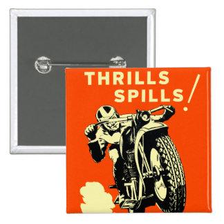 Les rétros motos vintages emballe des flaques de f badge carré 5 cm