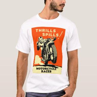 Les rétros motos vintages emballe des flaques de t-shirt
