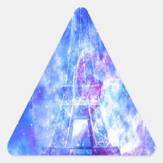 Les rêves parisiens de l'amant sticker triangulaire