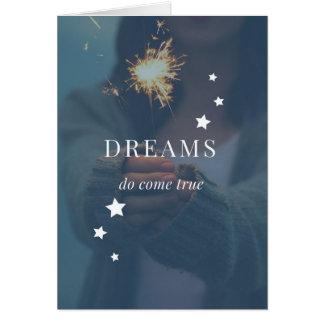 Les rêves viennent carte vraie