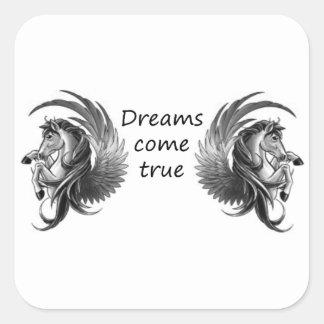 les rêves viennent sticker carré