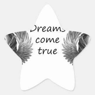 les rêves viennent sticker étoile