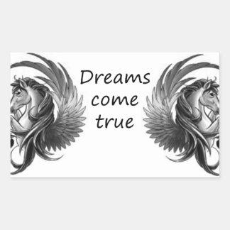 les rêves viennent sticker rectangulaire