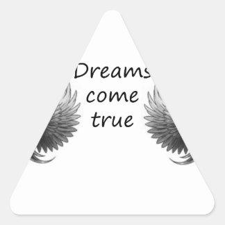 les rêves viennent sticker triangulaire