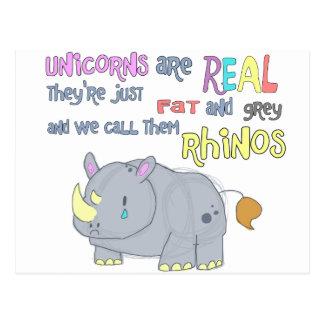 les rhinocéros sont juste carte postale laide de