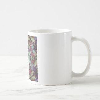 Les riches rares ont coloré le résumé moderne mug blanc