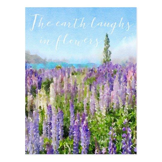 Les rires de la terre dans le carte pour notes de cartes postales