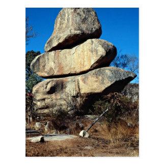 Les roches de équilibrage, formati de roche de carte postale