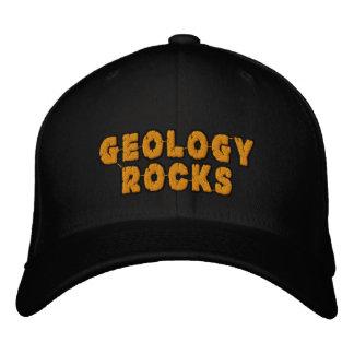 Les roches de géologie ont brodé le casquette