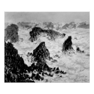 Les roches du Belle-Ile, 1886 Poster