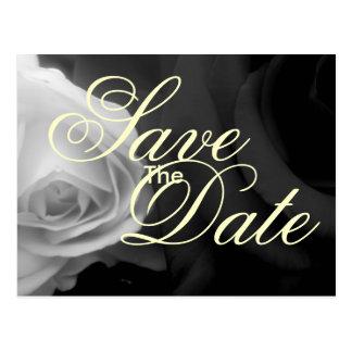 Les roses noirs et blancs font gagner la date cartes postales