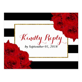 Les roses rouges de collection Luxe moderne chic Carte Postale
