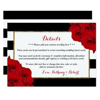Les roses rouges de collection Luxe moderne chic Carton D'invitation 11,43 Cm X 15,87 Cm
