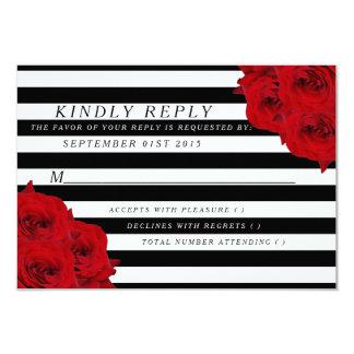 Les roses rouges de collection Luxe moderne chic Carton D'invitation 8,89 Cm X 12,70 Cm