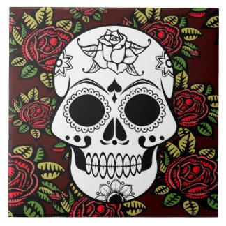 les roses rouges de rétro art de carreau de
