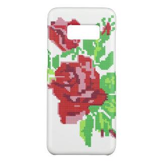 Les ROSES Samsung d'ART de PIXEL enferment Coque Case-Mate Samsung Galaxy S8