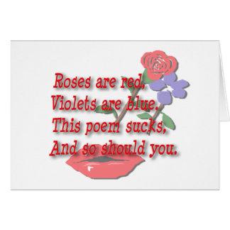 Les roses sont… blanc rouge carte de vœux