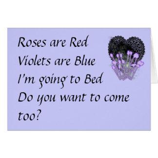 Les roses sont carte drôle rouge de valentines