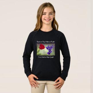 Les roses sont rouges, des violettes sont pourpres sweatshirt