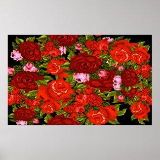 Les roses sont rouges posters
