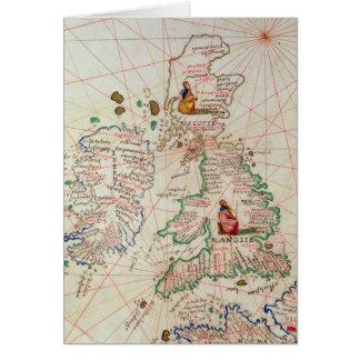 Les royaumes de l'Angleterre et de l'Ecosse Carte De Vœux