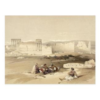 Les ruines de Baalbec, le 5 mai 1839, plaquent 77 Carte Postale