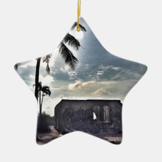Les ruines en île de Bantayan Ornement Étoile En Céramique