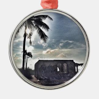 Les ruines en île de Bantayan Ornement Rond Argenté