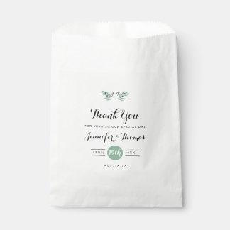 Les sacs de faveur de mariage de ressort d'olive