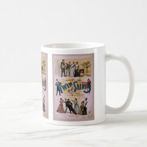 """Les saints jumeaux, """"cet homme est"""" un rétro théât tasse"""