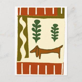 Les salutations de la saison de teckel de pays carte postale