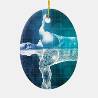 Les sciences médicales ornement ovale en céramique