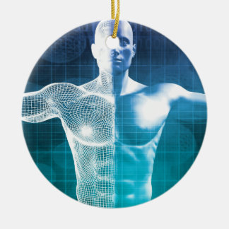 Les sciences médicales ornement rond en céramique