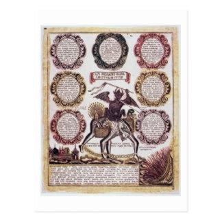 Les sept péchés mortels (gravure) carte postale