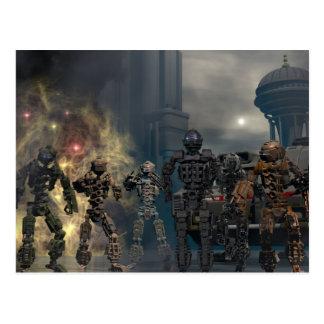 les sept robots glorieux b cartes postales