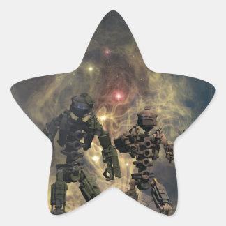 les sept robots glorieux b sticker étoile